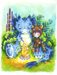 Dragon-et-boy by Ozmoze-Land
