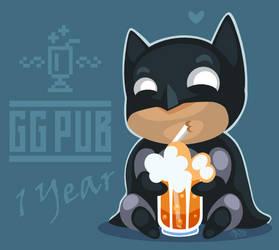 Batman at GGPub by AhNinniah