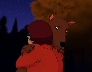 Scooby gives good hugs by BalletCoppelia