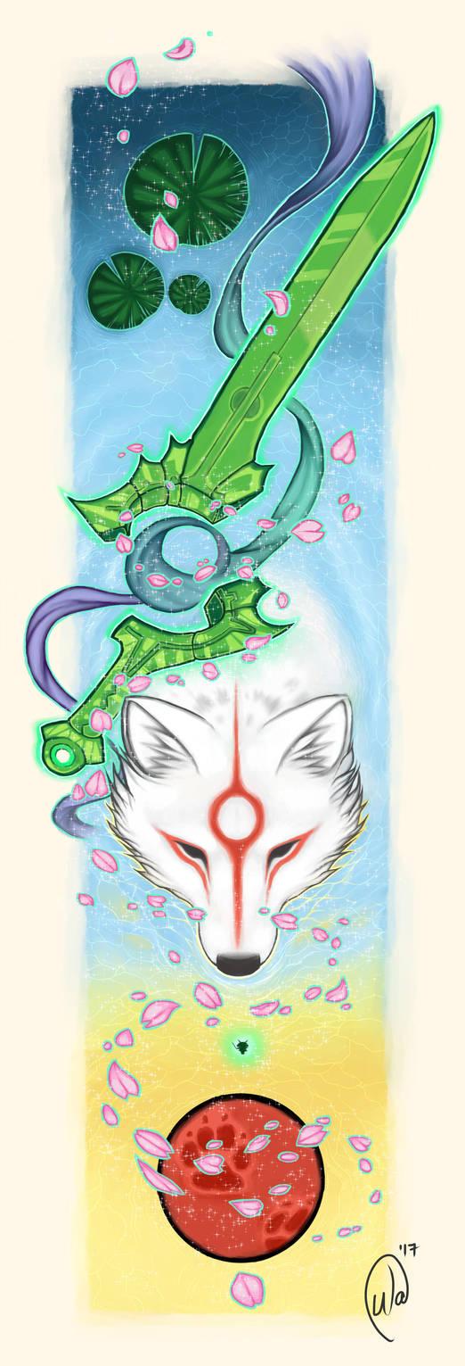 Okami Amaterasu by InkWitchArts