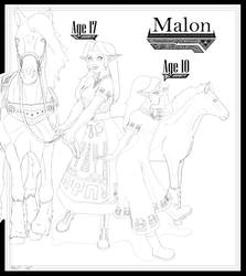 Malon (age 10,17) by Hungryman123