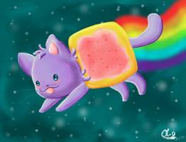 nyan cat by Co0kie-Cat