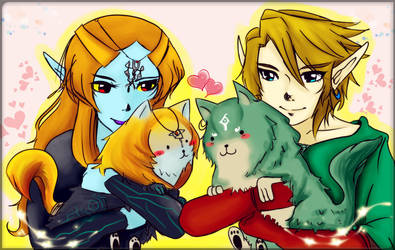 Twilight Princess:Hold with wolf by Christy58ying
