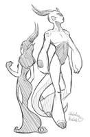 Lady Echo and Adamai by WhitedoveHemlock