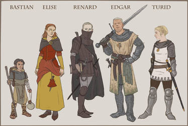 Paperdoll dnd party: normal day by Bergholtz