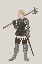 Turid Brigandine without helmet by Bergholtz