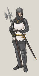Turid plate armour with helmet. by Bergholtz