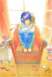 Ryuzaki and kitten - FanArt^^ by VaLerka-Ru