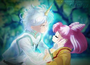 HAPPY VALENTINE'S DAY! Chibiusa and Helios by kgfantasy