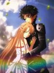 Commission: Asuna and Kirito by kgfantasy