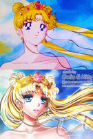 Redraw: Living Goddess (Sailor Moon R) by galia-and-kitty