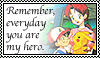 Ash and Delia Ketchum Stamp by AiselnePN