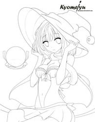 Dr Closure commision Witch (Lineart) by Kyomeiyu