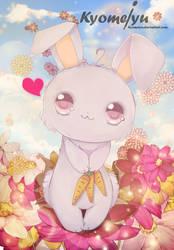 Cute Bunny With carrot. by Kyomeiyu
