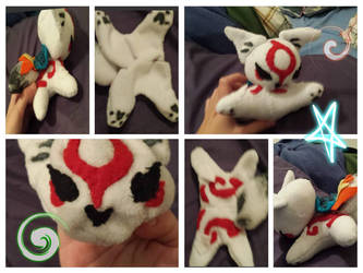 I finsh  the  Okamiden Plushy by snire12