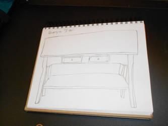 End Table Perspective by EbonyCrimsonRose
