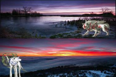 Sunrise and Sunset by EbonyCrimsonRose