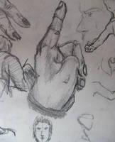 estudio mano by MokaTorota