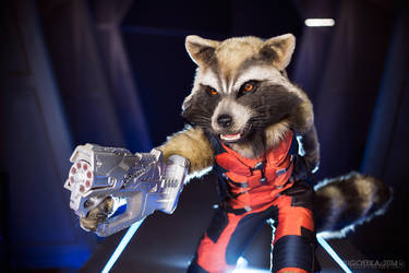 Guardians of the Galaxy - Rocket Raccoon by Pugoffka-sama