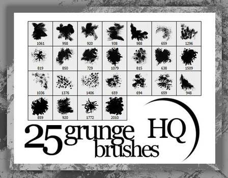 25 Grunge Brushes HQ by FashionVictim89