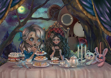 Lonely teatime by Rin54321