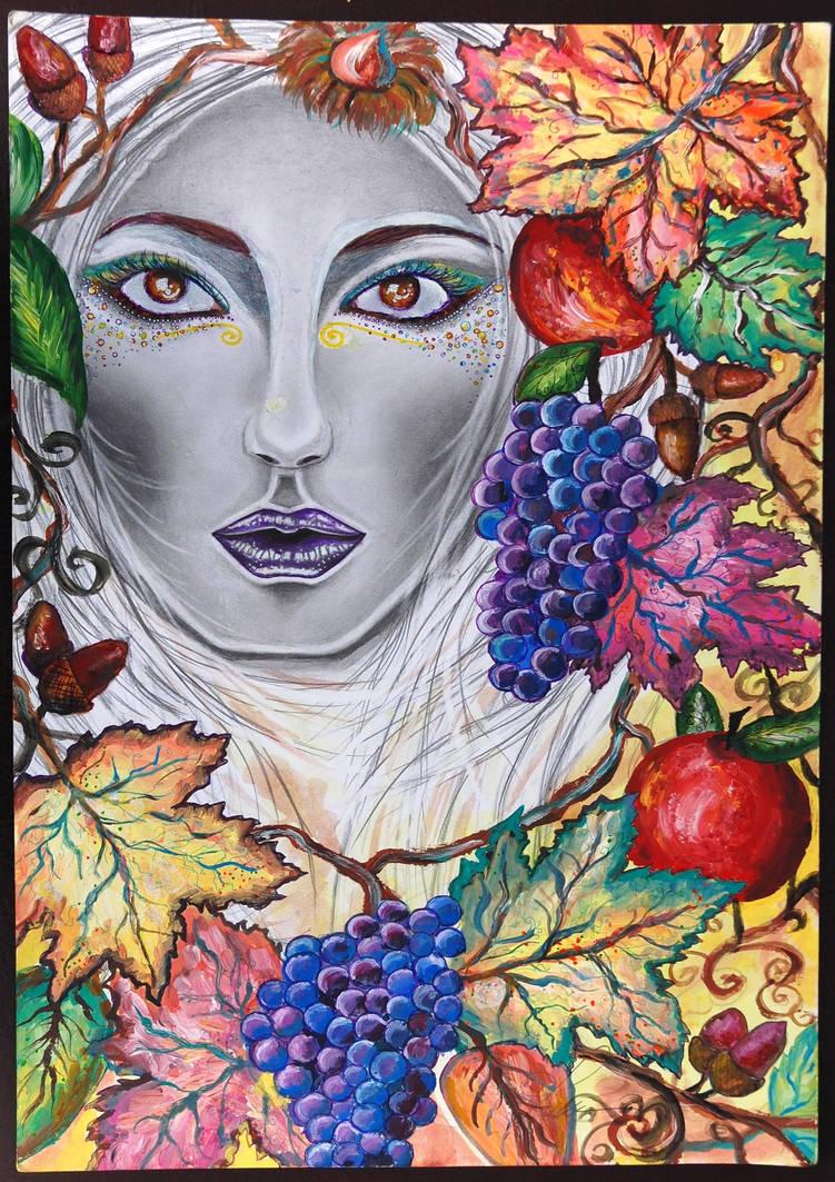 Lady Autumn by LaVyNuTZzZArT