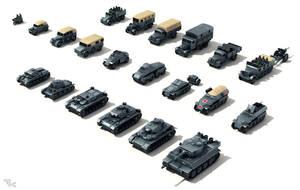 Various WW2 German Armor by tk3d