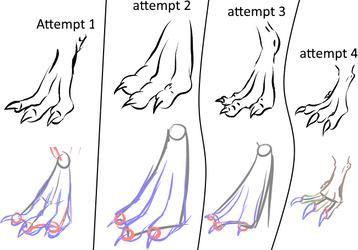 Dragon/Dinosaur Claws/Feet Practice by Blocko-maniac
