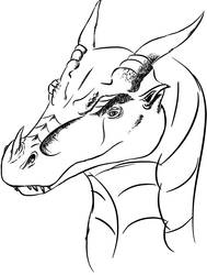 More Top-View Dragon Head Practice by Blocko-maniac