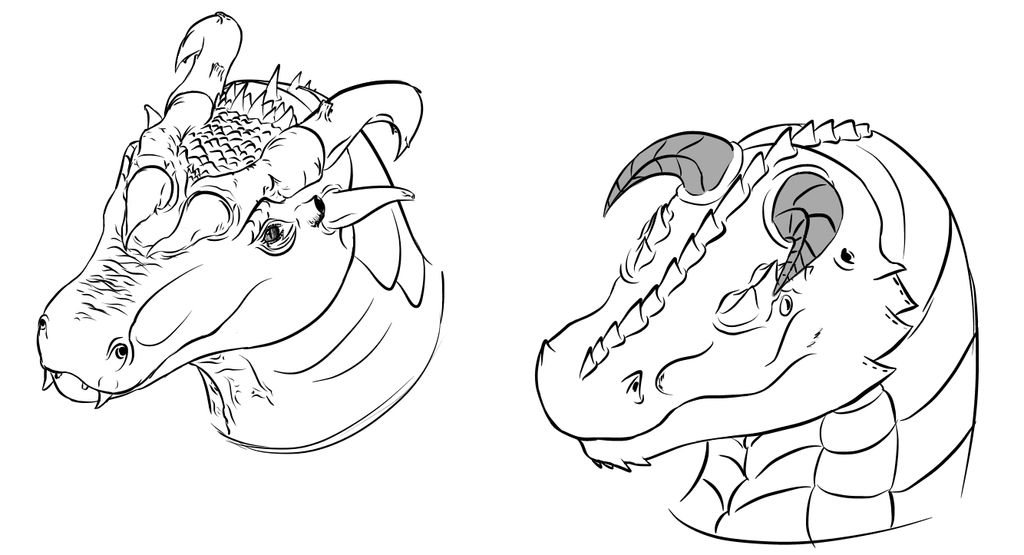 EVEN More Top-View Dragon Head Practice by Blocko-maniac