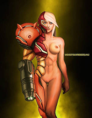 Samus Aran of Metroid by nekokawai