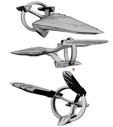 Star Trek original ship design! USS Archangel. by nekokawai