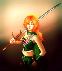 Peri-blood Aasimar Emberkin for Pathfinder by nekokawai