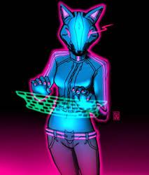 The Kitsune VR hacking! by nekokawai
