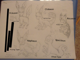 Fakemon Eeveeevoultion Stuff by ChanChan-the-Leafeon