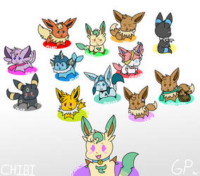 GP Chibi Characters by ChanChan-the-Leafeon