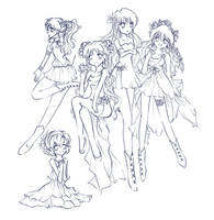 sailor moon: lineart by featheredwings