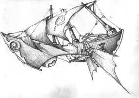 Airship by Grimsbloodmoon