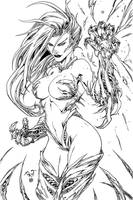 Witchblade inks by Zyon23 by Zyon23