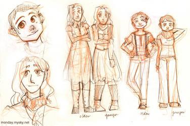 Missing Monday design sketches by elleskinner
