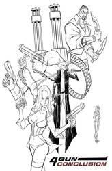 4 GUN CONCLUSION: line work by BobbyRubio