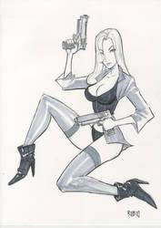 4 Gun Natalia commission by BobbyRubio