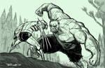 Hulk smash puny Wolverine by BobbyRubio