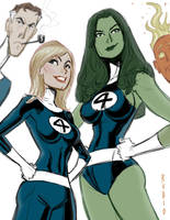 The Fantastic Four by BobbyRubio