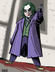 Joker Cosplay drawing by BobbyRubio