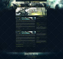 Heroes WoW - Mists of Pandaria Website Template by InsDev