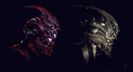 Guyver helmets design by BenedictWallace