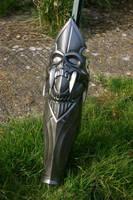 Black Knight leg armour by DragonArmoury