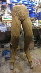 Demon legs sculpt by DragonArmoury