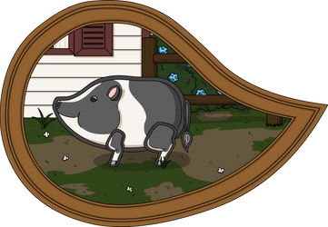 Basil the Pig by vhartley